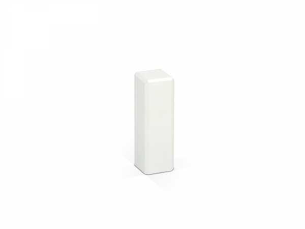 Weiße Holzecken für Sockelleisten 21 x 21 x 65 mm