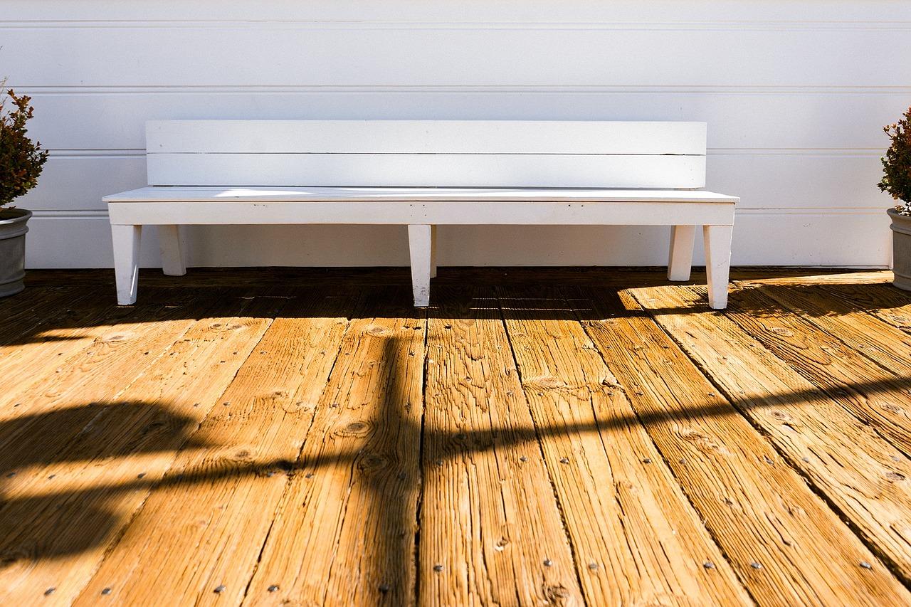 Sonne auf Holz