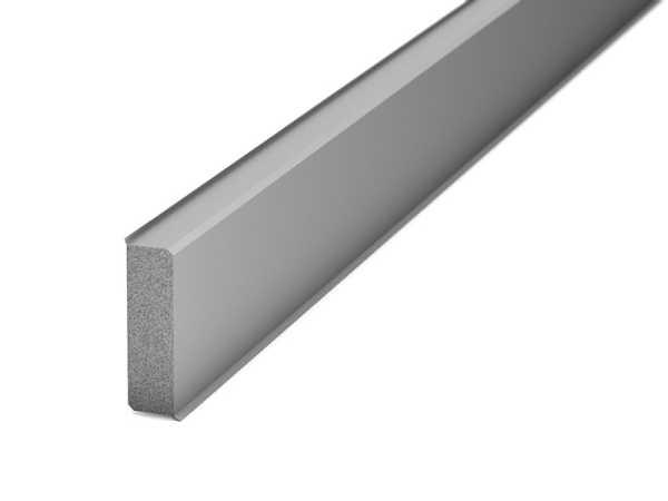 Prinz Hartschaum Sockelleiste Tondo 40 mm, grau inkl. Dichtlippen