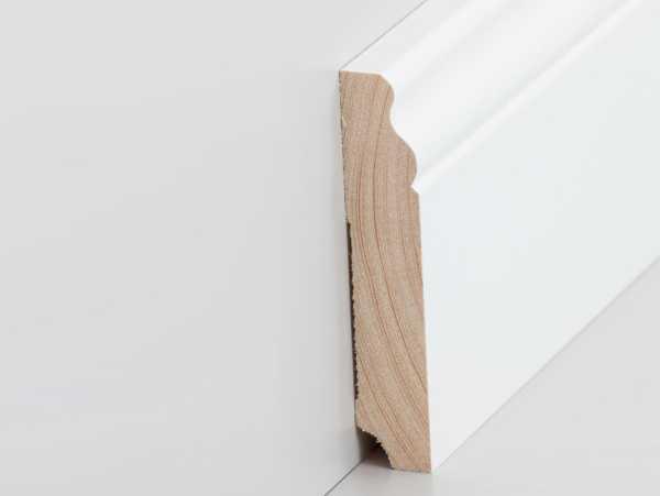 fu leiste altberliner profil 19 x 100 mm wei lackiert leisten outlet. Black Bedroom Furniture Sets. Home Design Ideas