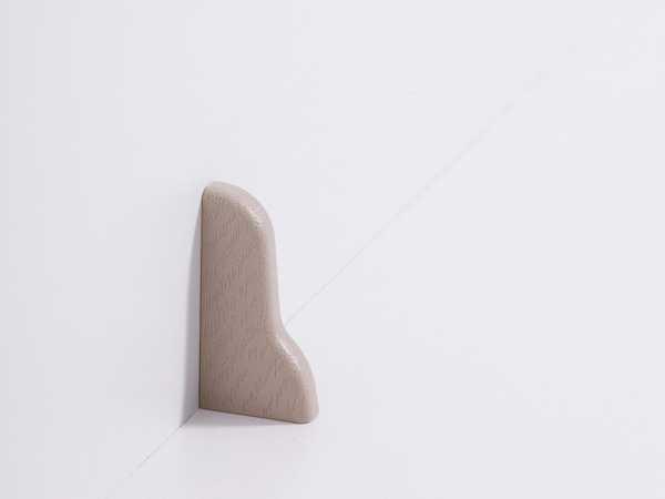 Endkappe links für Laminatleiste 20 x 40 mm, Dekor Eiche beige