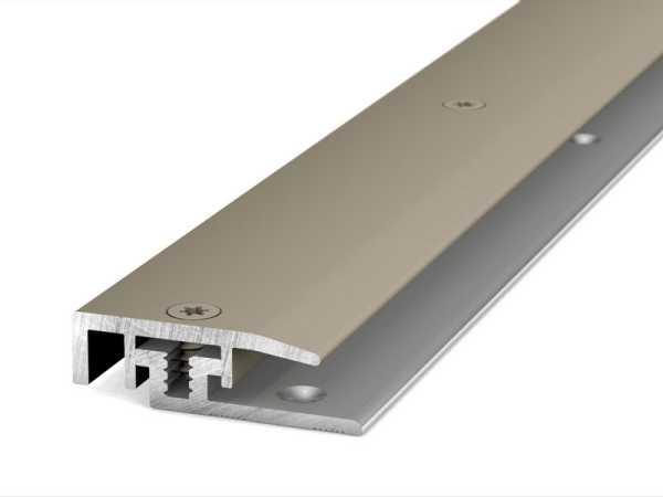 Prinz Abschlussprofil LPS Design Länge 100 cm Edelstahl matt, 21 mm inkl. Montagezubehör
