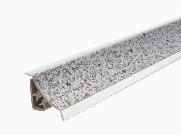 Küchenwandleiste 23 x 25 mm inkl. Befestigung – Dekor Stein hell