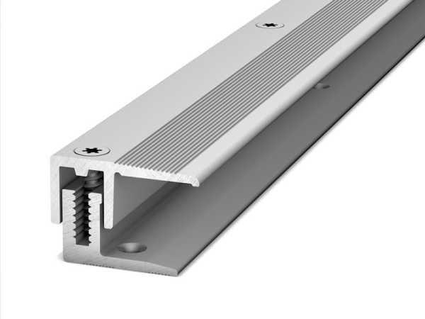 Prinz Abschlussprofil LPS 220 Länge 100 cm silber, 22 mm inkl. Montagezubehör