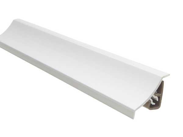 Primo pvc Küchenleiste weiß 23x25mm | Abschlussleiste inc. Montageclips