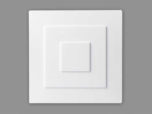 Rosette Heike 320 x 320 mm Polystyrol quadratisch