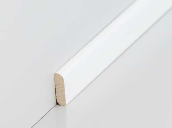 Südbrock Abachi Vorsatzleiste weiß lackiert RAL9010 (6x22mm)