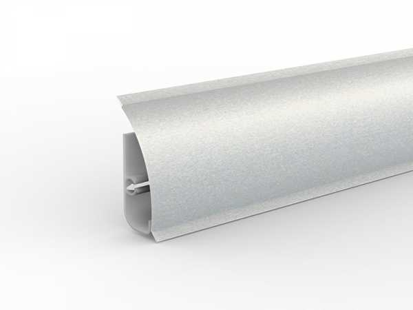 Döllken Kabelkanal -Sockelleiste MD 63 26x63 mm Alu metallic, inkl. Grundprofil