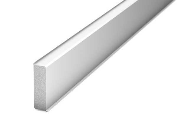 Prinz Hartschaum Sockelleiste Tondo 60 mm, weiß inkl. Dichtlippen