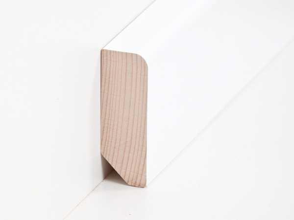 Fußbodenleiste Weiß fussleiste 20 x 58 mm in buche weiß lackiert leisten outlet