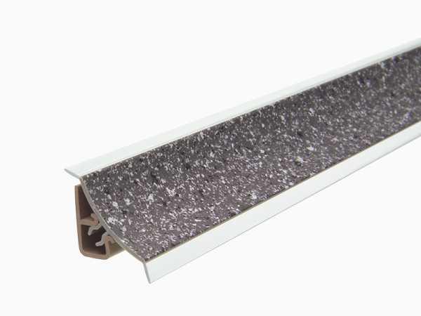 Küchenwandleiste 23 x 25 mm inkl. Befestigung – Dekor Stein