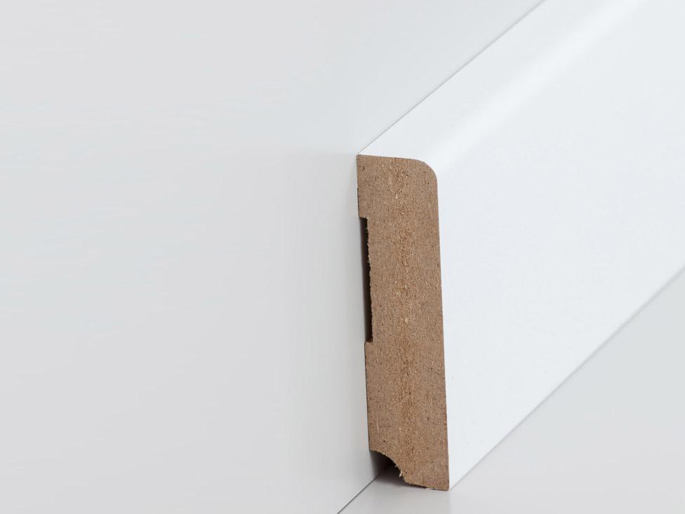 sockelleiste 19 x 80 mm abgerundet in wei leisten. Black Bedroom Furniture Sets. Home Design Ideas