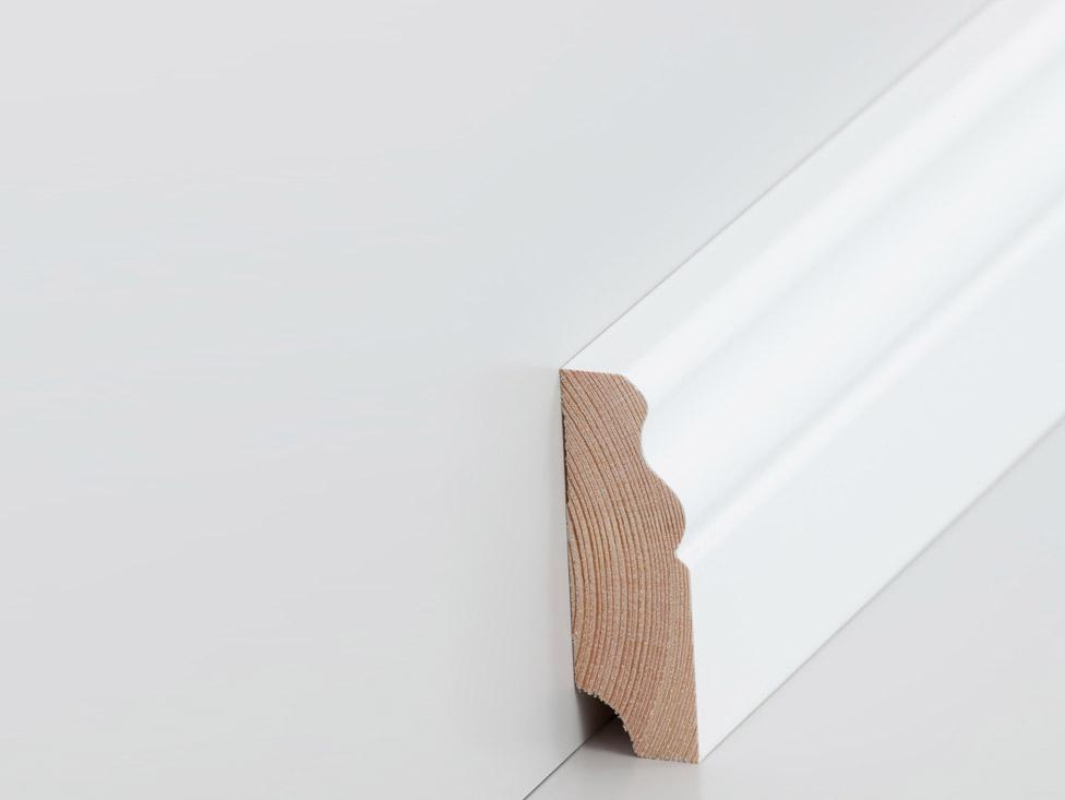 fu leiste altberliner profil 19 x 60 mm wei lackiert. Black Bedroom Furniture Sets. Home Design Ideas
