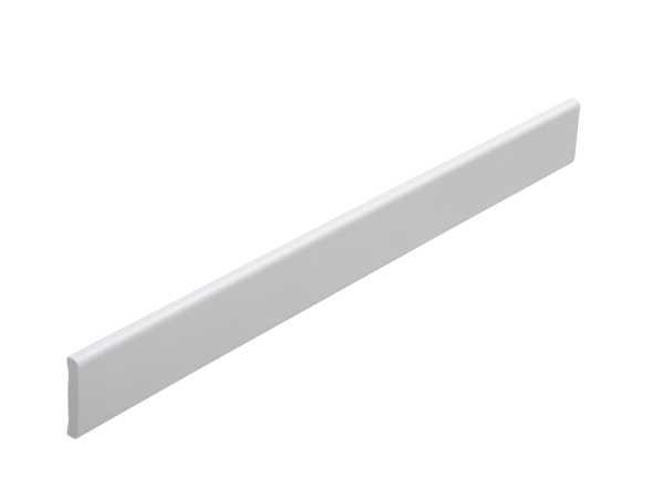 Flachleiste für Abschlüsse an Boden und Wand, 25 x 4,5 mm, weiß