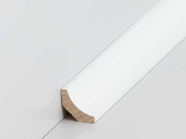 Holz Hohlkehlleiste 20 X 20 Mm In Ramin, Weiß Lackiert
