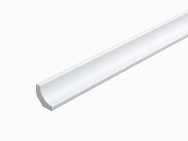 Massive Hohlkehlleiste 21 x 21 mm, Dekor weiß