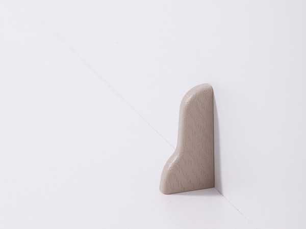 Endkappe rechts für Laminatleiste 20 x 40 mm, Dekor Eiche beige