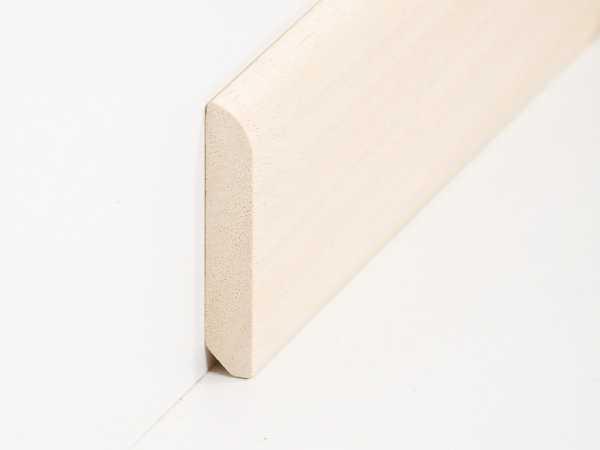 Fußbodenleiste fußbodenleiste 10 x 58 mm in abachi unbehandelt leisten