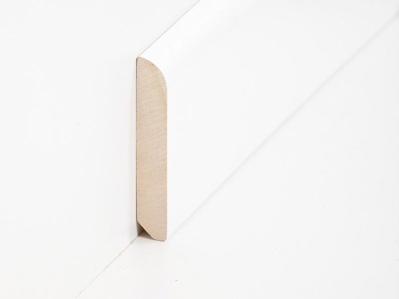 massive fu bodenleiste 10 x 58 mm in abachi wei lackiert. Black Bedroom Furniture Sets. Home Design Ideas