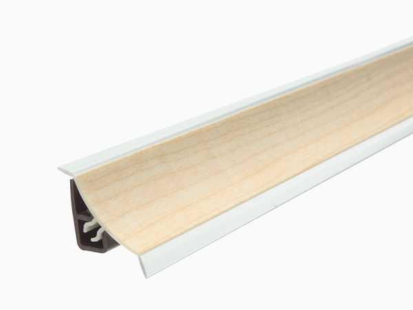 Küchenwandleiste 23 x 25 mm inkl. Befestigung – Dekor Ahorn