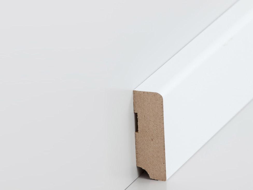 sockelleiste 19 x 58 mm abgerundet in wei leisten. Black Bedroom Furniture Sets. Home Design Ideas