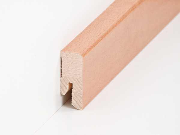 Parkettleiste furniert 16 x 40 mm, gedämpfter Buche, lackiert