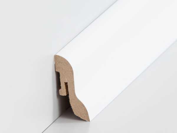 25 m Sparpaket Laminat-Sockelleiste 20 x 40 mm, Dekor weiß inkl. Zubehör