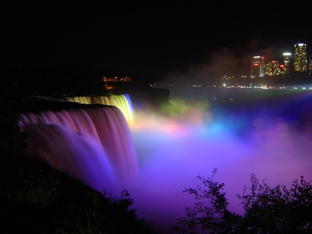 Beleuchtung Wasserfall